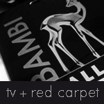 Button tv red carpet grau